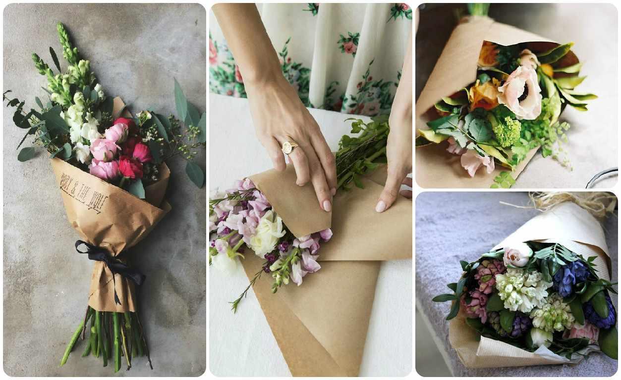 Красивые букеты своими руками и упаковка