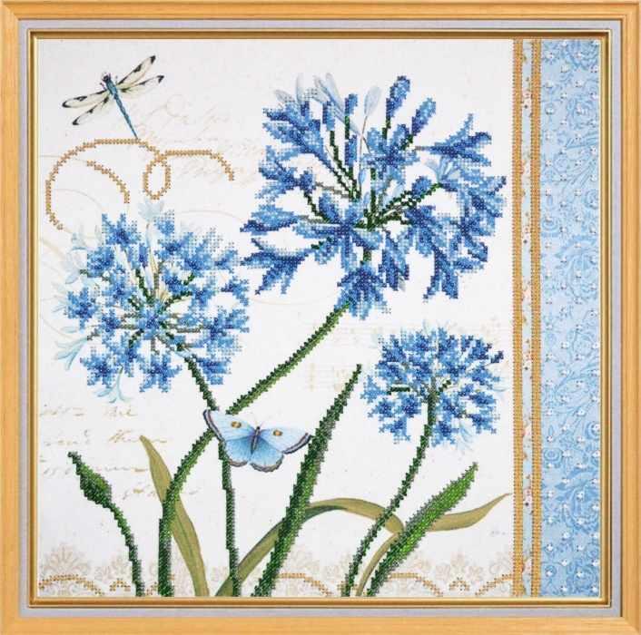 001-РТ Голубые цветы (Овен)