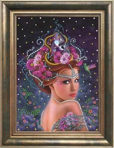 0108 Королева цветов - картина стразами (Преобрана)