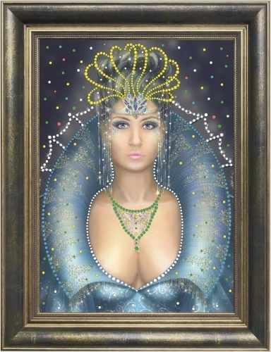 0110 Снежная королева - картина стразами (Преобрана)
