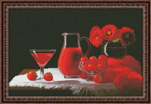 0115 Красный натюрморт - набор для вышивания (Юнона)