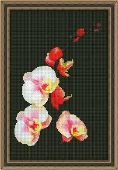 0118 Розовая орхидея - набор для вышивания (Юнона)