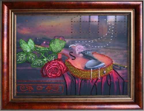 0119 Вечерняя серенада - картина стразами (Преобрана)