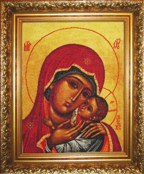0203 Богородица Касперовская - набор для вышивания (Юнона)