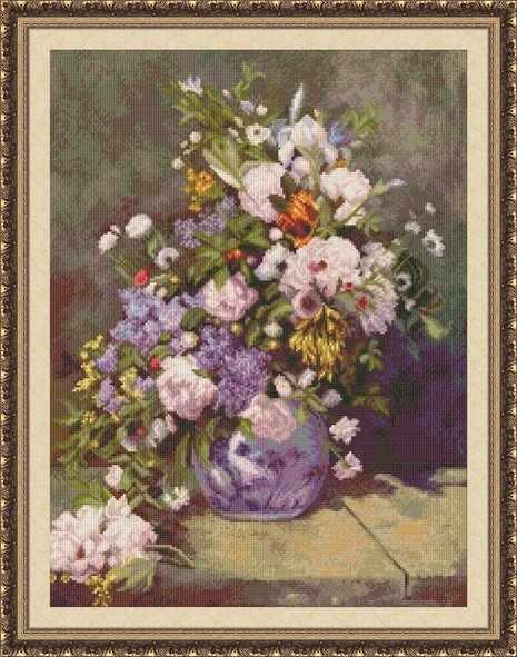 0205 Весенний букет - набор для вышивания (Юнона)
