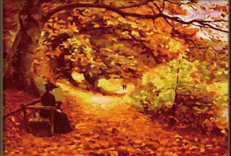 036-CG Осенний парк (Белоснежка)