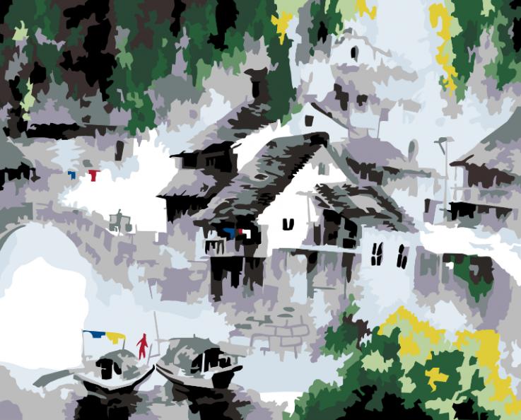 055-CG Белый город (Белоснежка)