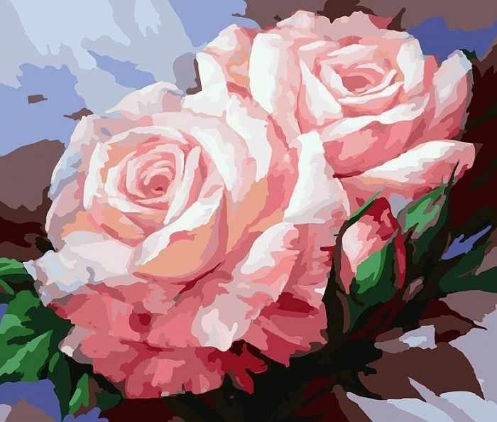 058-CG Нежные розы (Белоснежка)