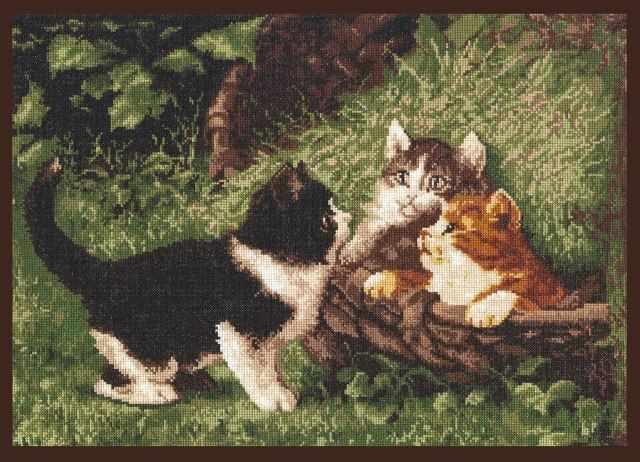 """07.001 """"Котята в корзине"""" (Палитра)"""