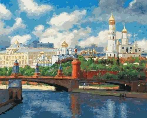 074-AB Московский кремль (Белоснежка)