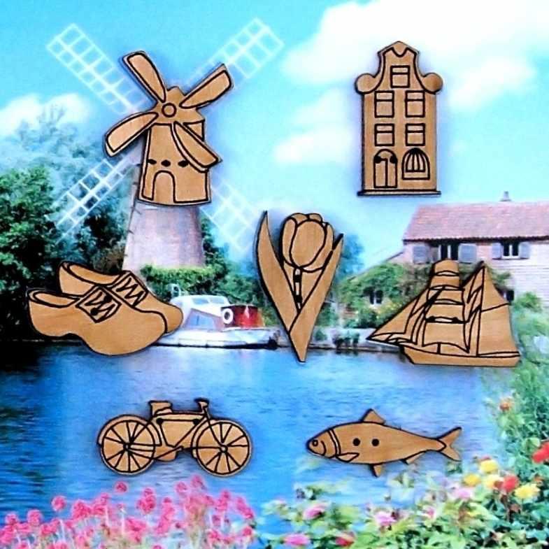 07D Голландия (пуговица) - Butterfly