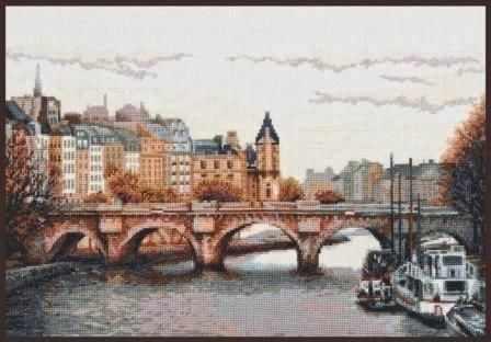 """08.013 """"Мост через Сену"""" (Палитра)"""