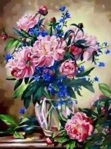 081-CG-C Букет лесных цветов (Белоснежка)