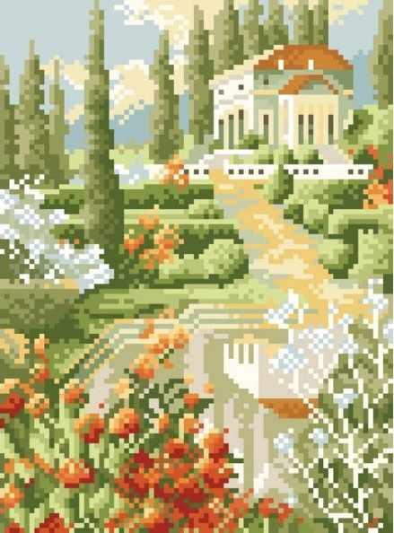 081-ST-S Южные красоты - мозаика на подрамнике (Белоснежка)