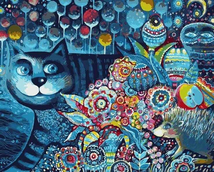 083-АВ Индиго кот (Белоснежка)