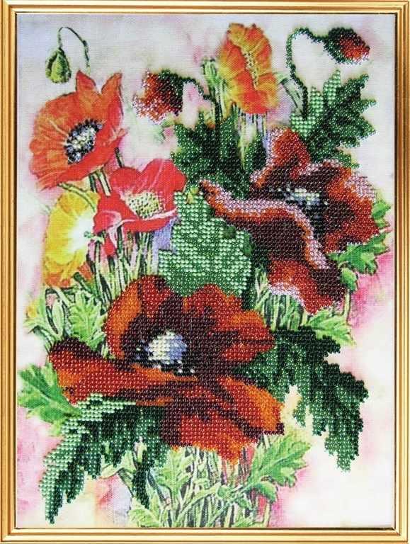 087-ЦВ Акварельные цветы.Маки (ВМ)