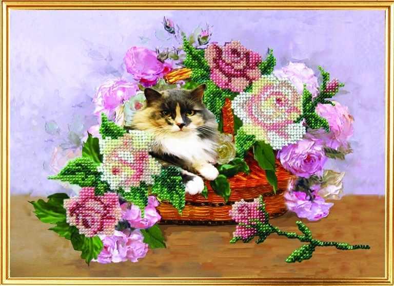 088-ЦВ Акварельные цветы. Сюрприз в букете (ВМ)