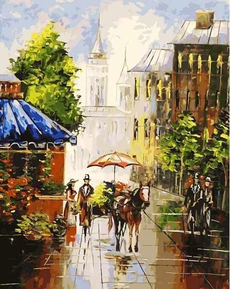 089-AB Мотивы старого города - раскраска (Белоснежка)