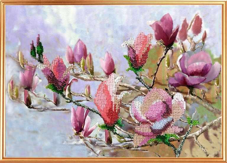 090-ЦВ Акварельные цветы. Магнолиевый рай (ВМ)