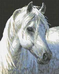 090-ST Белый конь (Белоснежка)