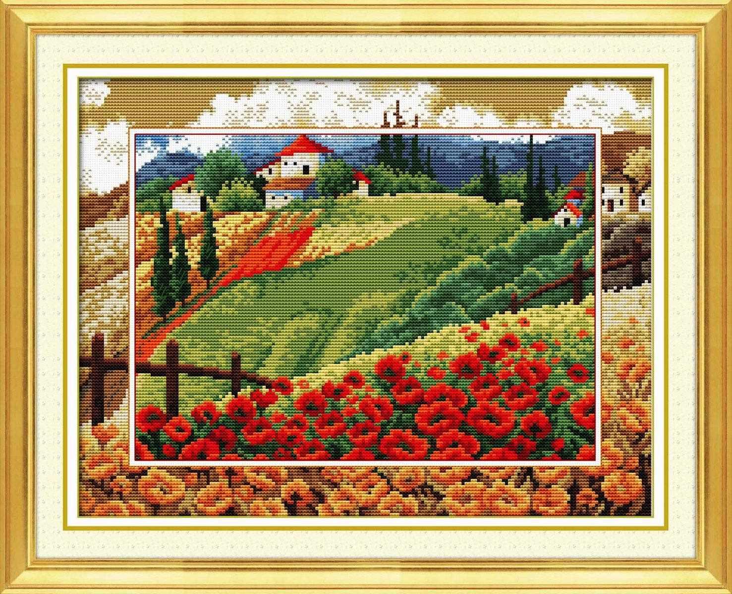 "100109 ""Mono scenery poppy"" (DOME)"