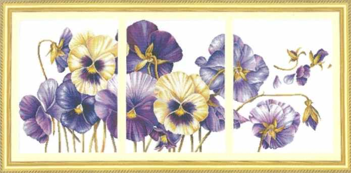 "100403 ""Purple pansy"" (DOME)"