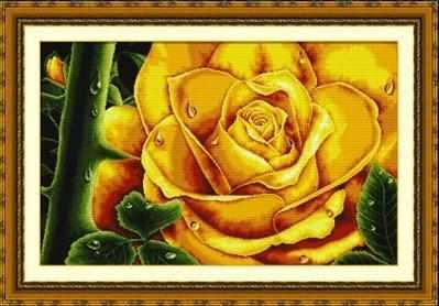 """100803 """"Желтая роза"""" (DOME)"""