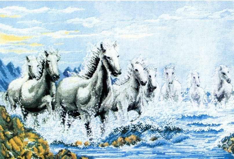 1015-14 Табун лошадей (Белоснежка)