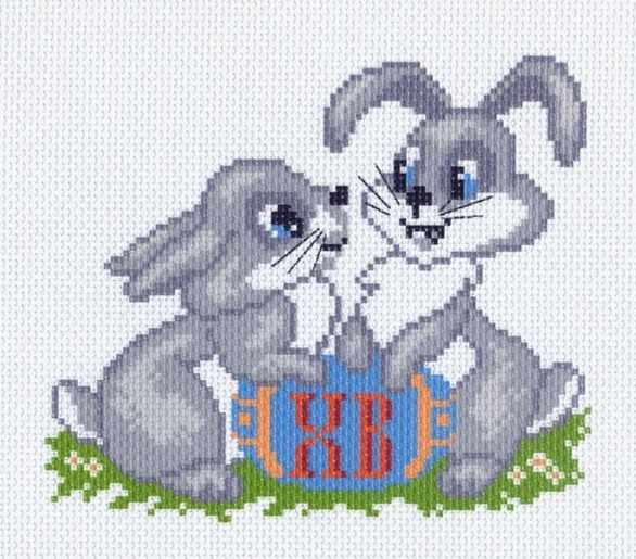 1041 Весенняя радость - рисунок на канве (МП)