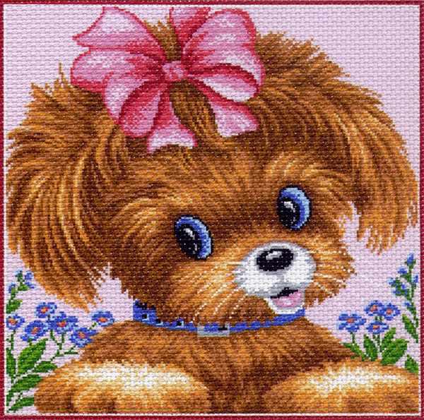 1087 Собачка - набор для вышивания (МП)