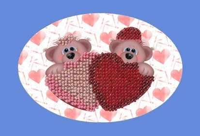 110-ОТ Валентинка. Мишки с сердечками (ВМ)