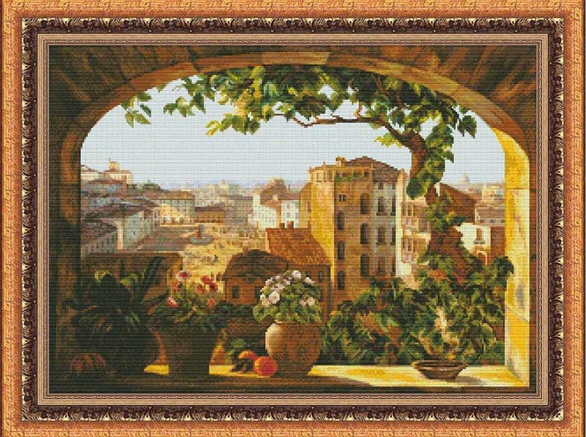 1102 Окно в Рим - набор для вышивания (Юнона)