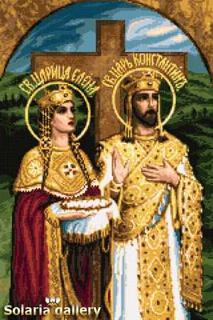 1112-11 Св. царь Константин и царица Елена - бумажная схема