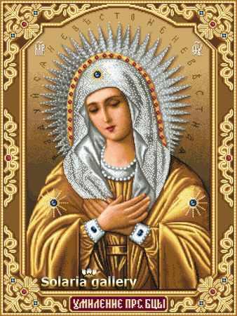 1112-76 Св. Богородица Умиление Серафимо-Дивеевская - бумажная схема