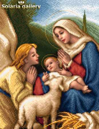 1113-43 Мадонна с Младенцем и Ангелом - бумажная схема