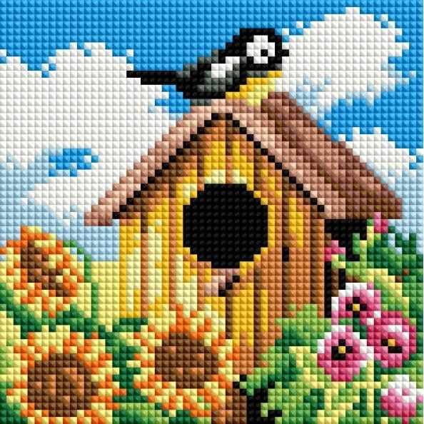114-ST-РS Птичий домик - мозаичная картина (Белоснежка)
