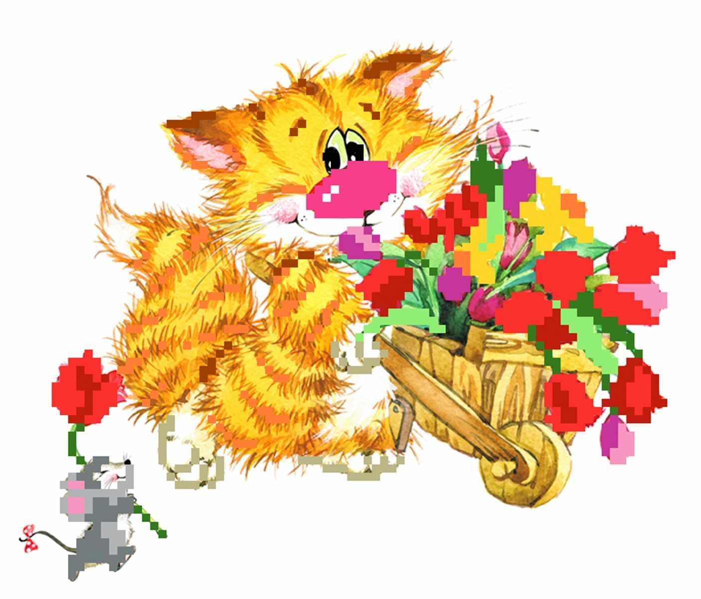 127/Б Цветы для детей  - набор для вышивания (МП)