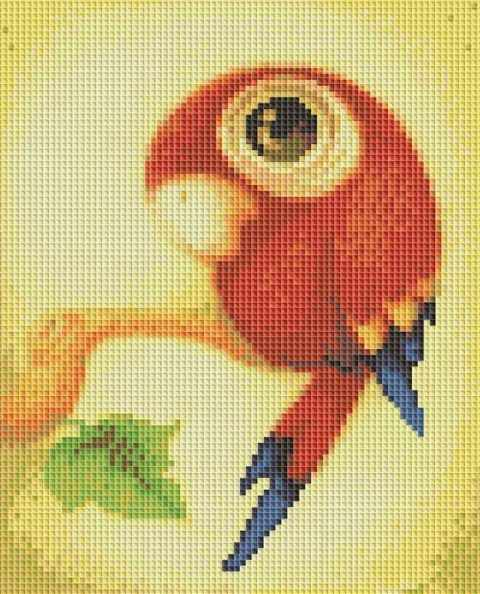129-ST Весёлый попугайчик (Белоснежка)