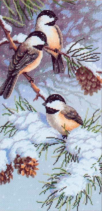 """130022 """"Зимние птицы"""" (DOME)"""