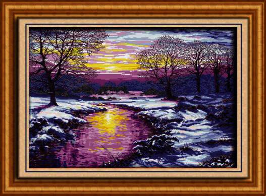 130067 Sunset in winter