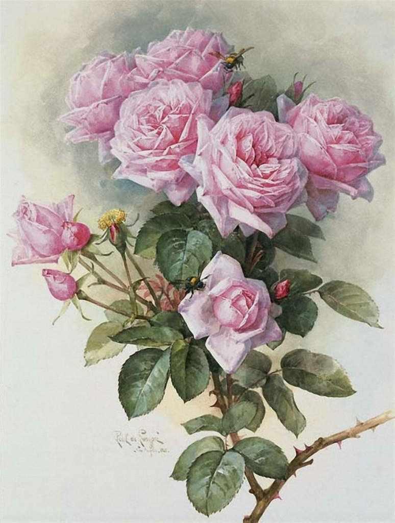 136 Розовый букет