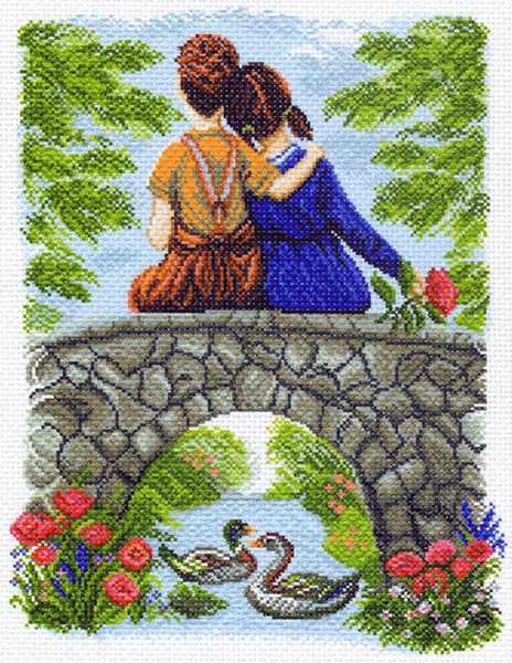 1456 Первое чувство - рисунок на канве (МП)