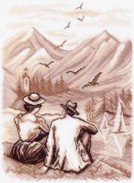 1458 Воспоминание - рисунок на канве (МП)