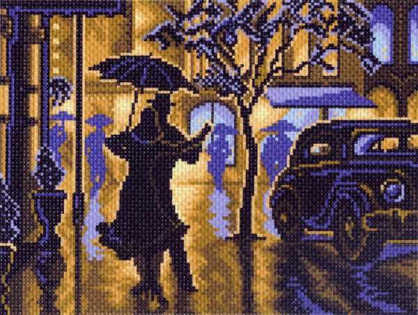 1469 Танец под дождем - рисунок на канве (МП)