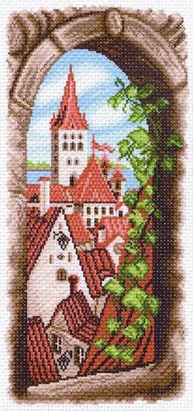 1500 Вид из окна - рисунок на канве (МП)