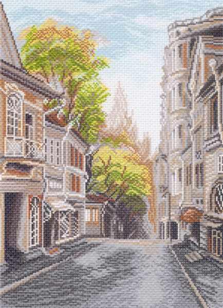 1510 Поварская улица - рисунок на канве (МП)