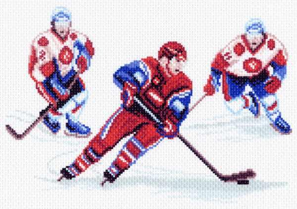 1516 Хоккей - рисунок на канве (МП)