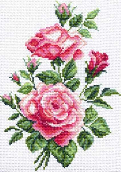 1525 Розочки - рисунок на канве (МП)