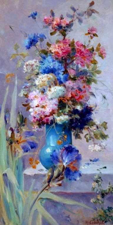 157 Летние цветы с японскими ирисами