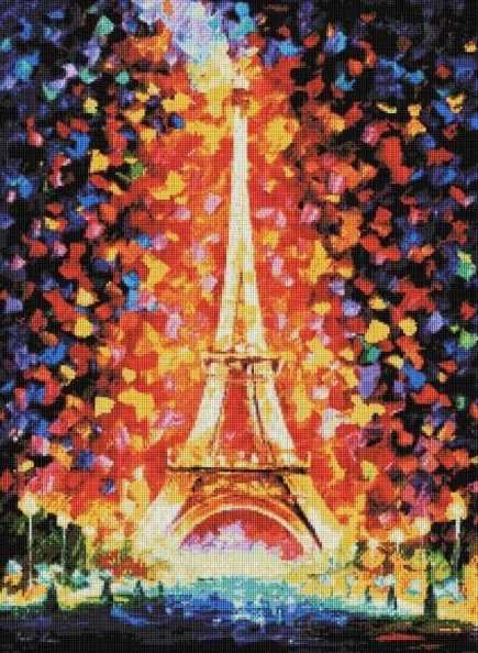 159-ST Париж - огни Эйфелевой башни (Белоснежка)